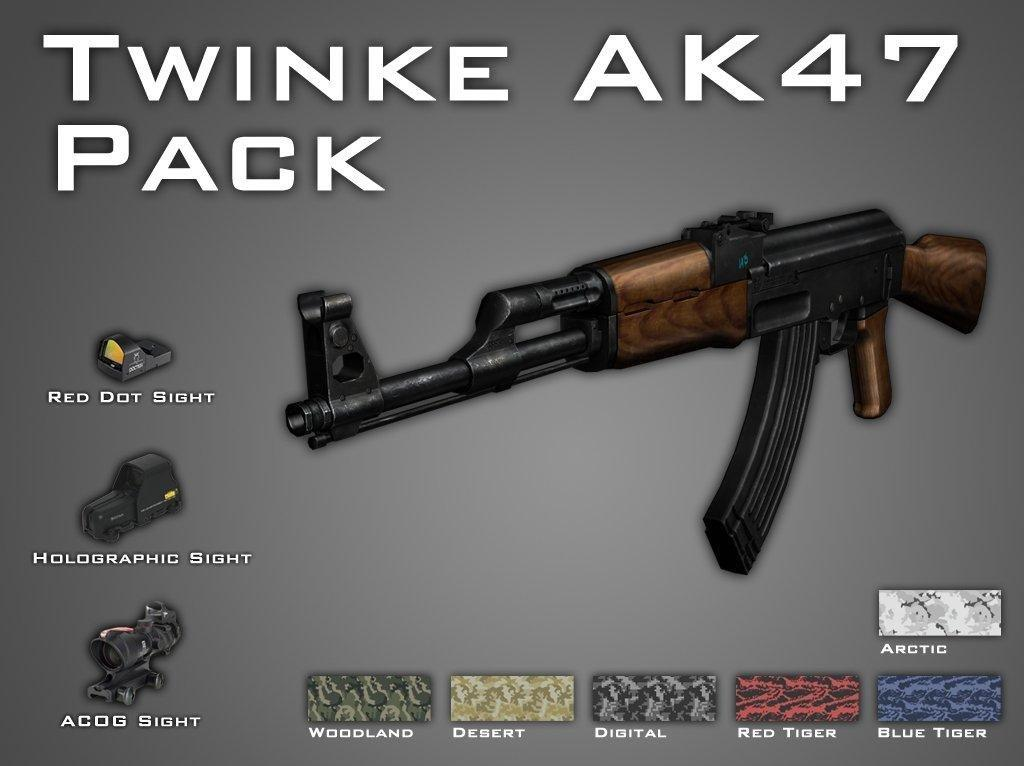 AK47 - AK47 с MW2 (AK47 with MW2 looks like animation)